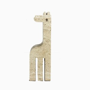 Modernist Italian Travertine Marble Giraffe Bookend by Fratelli Mannelli, 1970s