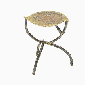 Sculptural Brass Side Table by Henri Fernandez, 1970s