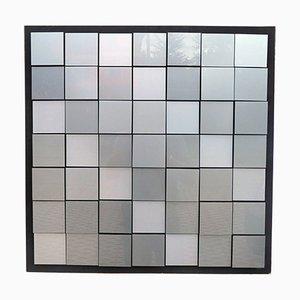 Panel cinético plateado de plexiglás de Giorgio Garbari, años 70