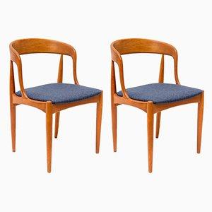 Sedie da pranzo in teak di Johannes Andersen per Uldum Møbelfabrik, Danimarca, anni '60, set di 2
