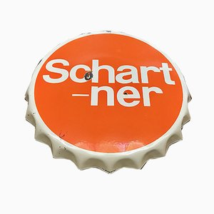 Schartner Lemonade Enamel Advertising Sign from Austria Email, 1971