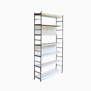 Dutch Black & White Metal Shelving Unit, 1970s