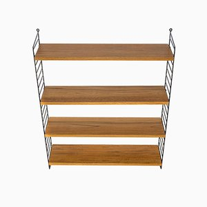 Teak Wall Shelf by Kajsa & Nils 'Nisse' Strinning for String, 1960s