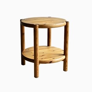 Vintage Pine Side Table by Rainer Daumiller