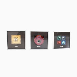 Gelatin Offset Prints by Victor Vasarely, 1970s, Set of 3