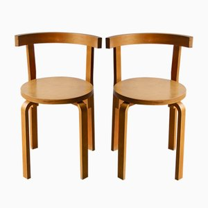 Vintage Modell 68 Esszimmerstühle von Alvar Aalto für Artek, 2er Set