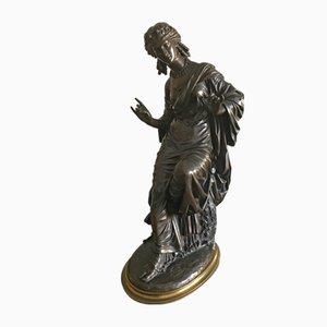 Escultura antigua de bronce de Eugene Lawrence para Gautier