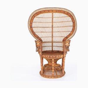 Vintage Rattan Emmanuelle Lounge Chair, 1970s