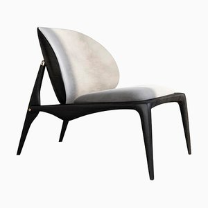 Ash & Leather Lounge Chair by Ben Wu