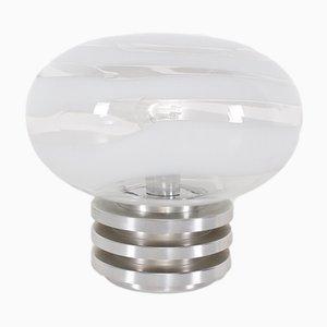 Spiralförmige Tischlampe aus Glas von Doria Leuchten, 1970er