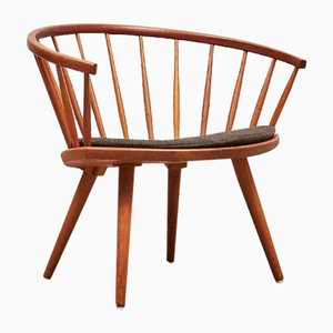 Oak Arka Chair by Yngve Ekström for Stolab, 1950s