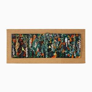 Pannello da parete grande con uccelli in ceramica, anni '70