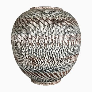 Jarrón de suelo alemán grande de cerámica de Dümmler & Breiden, años 50