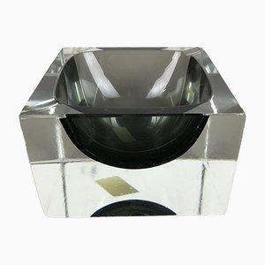 Cenicero italiano de cristal de Murano Sommerso de Vetreria G. Campanella & C., años 70