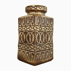 Jarrón de pie alemán de cerámica Fat Lava de Bodo Mans para Bay Keramik, años 70