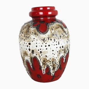 Jarrón 280-42 grande de cerámica Fat Lava multicolor de Scheurich, años 70