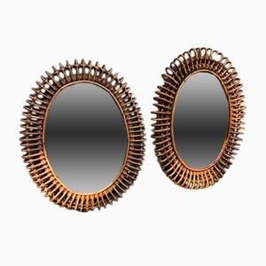Espejos de Vittorio Bonacina, años 50. Juego de 2