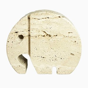 Moderne italienische Trapelli Marmorbuchstütze in Elefanten-Optik von Fratelli Mannelli, 1970er