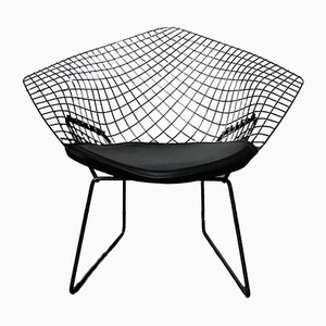 Model 421 Black Diamond Lounge Chair by Harry Bertoia for Knoll International, 1950s