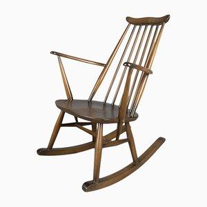Rocking Chair en Orme par Lucian Ercolani pour Ercol, 1960s
