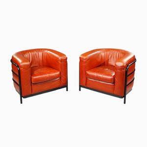Leather Onda Armchairs by De Pas, D'Urbino and Lomazzi for Zanotta, 1980s, Set of 2