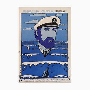 Póster Pirates Of The Pacific polaco de Neugebauer, años 70