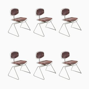 Center Pompidou Beaubourg Dining Chairs by Jean Prouvé, 1970s, Set of 6