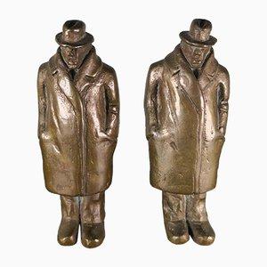 Esculturas de bronce de Siegfried Neuenhausen para Elmenhorst, años 90. Juego de 2
