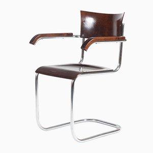Mid-Century Beistellstuhl aus Buche & Schichtholz von Kovona, 1960er