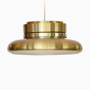 Swedish Golden Aluminum Pendant Lamp by Carl Thore for Granhaga Metallindustri, 1970s