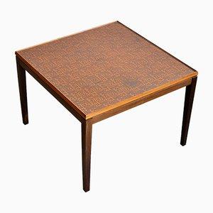 Table Basse Vintage en Palissandre et Cuivre