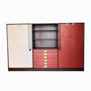 Armoire Vintage avec Commode et Lit Dépliant, 1970s