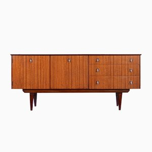 Walnut and Brass Sideboard, 1960s