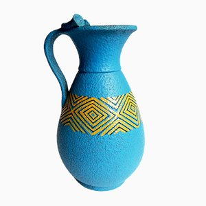 Blue Pitcher Vase from Casucci Chianciano, 1960s