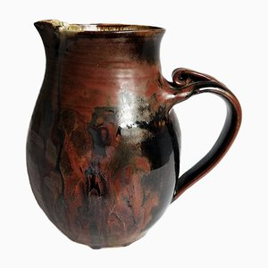 Vintage Terracotta Pitcher, 1950s