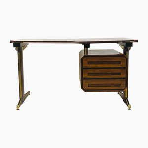 Small Italian Rosewood Desk by Vittorio Dassi for Dassi, 1950s