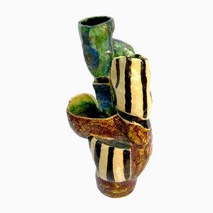 Skulpturale Vase von Ceramica Fiorentina, 1950er