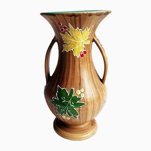 Vase von Santucci Deruta, 1950er