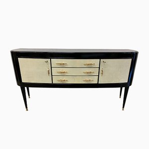 Italian Black And Parchment Sideboard, 1940a