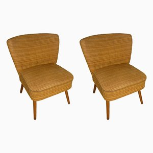 Fauteuils Cocktail Vintage Jaunes, Set de 2