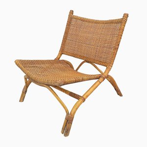 Vintage Rattan Fireside Chair, 1970s