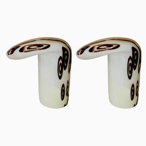 Tischlampen aus geblasenem Glas von Toni Zuccheri für La Murrina, 1970er, 2er Set