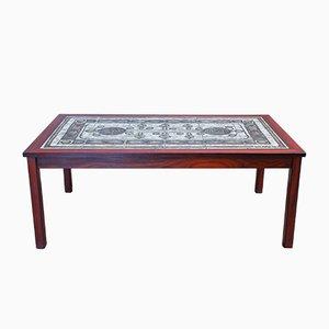Table Basse Vintage en Palissandre et Carreaux, 1976