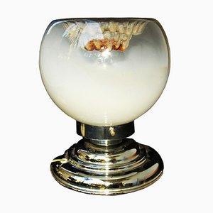 Tischlampe aus verchromtem Metall & Glas von Toni Zuccheri für VeArt, 1970er
