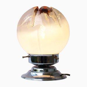 Lampe de Bureau en Métal Chromé et Verre par Toni Zuccheri pour VeArt, 1970s