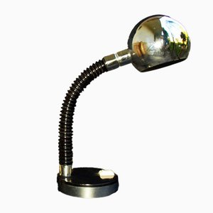 Chromed Metal Flexi Table Lamp, 1960s
