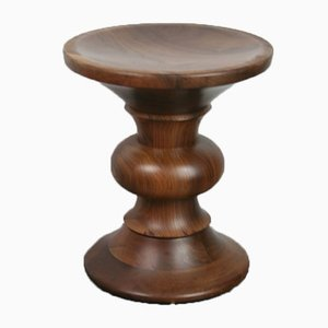 Vintage Walnut Model B Stool by Charles & Ray Eames for Herman Miller