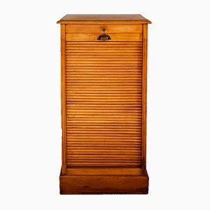 Small Roll Cabinet or Shutter Storage Cabinet, 1910s