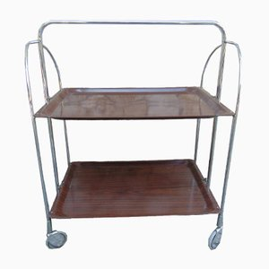 Vintage Industrial German Serving Bar Cart, 1970s