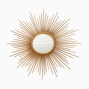 Large Sunburst Mirror by Chaty Vallauris, 1950s